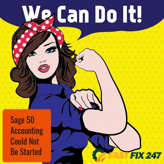 """Fix """"Sage 50 Accounting Could Not Be Started"""" Error"""