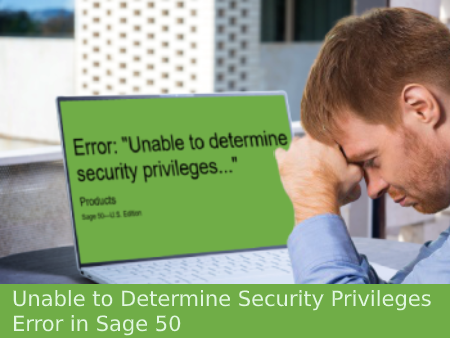 unable determine security privileges error sage 50 us edition
