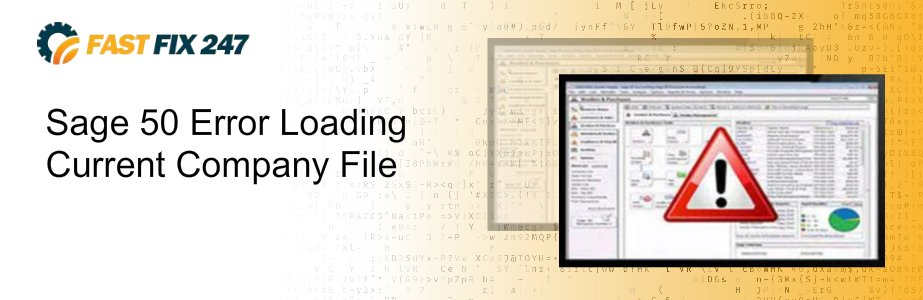 sage 50 error loading current company file