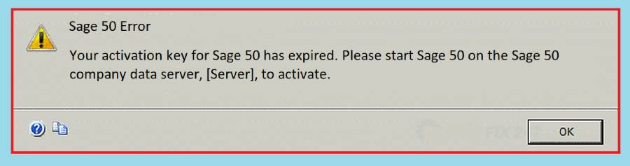 Sage 50 your activation key for sage 50 has expired