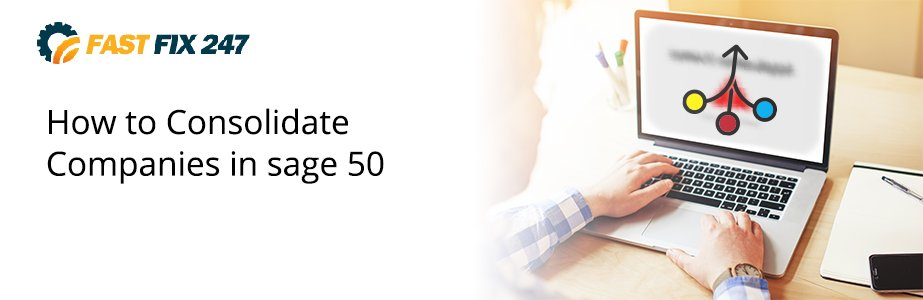 consolidate companies in sage 50