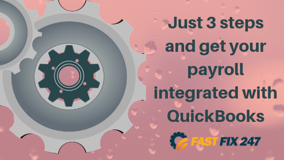 Just 3 steps and get your payroll integrated with QuickBooks