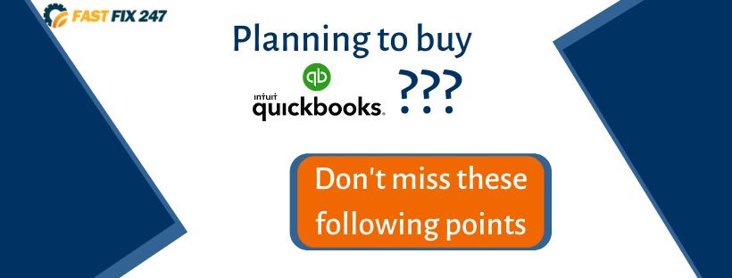planning to buy QuickBooks Desktop 2021