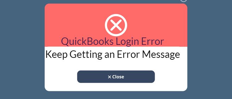 QuickBooks Error Message Login