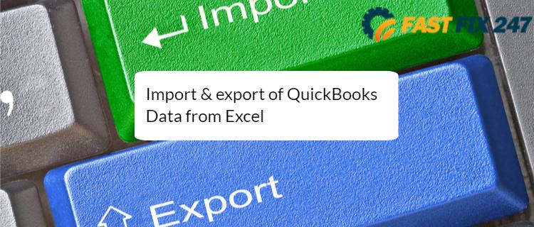 Import export QuickBooks Data from Excel