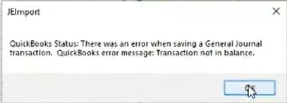 transaction out of balance