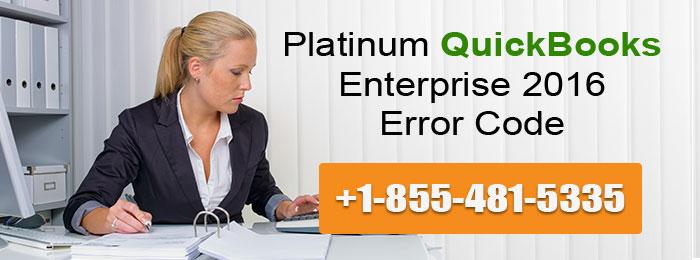 Platinum QuickBooks Enterprise 2016 error