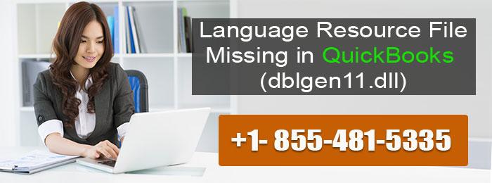 No Language Resource File QuickBooks (dblgen11.dll)