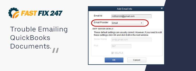 Trouble Emailing QuickBooks Documents