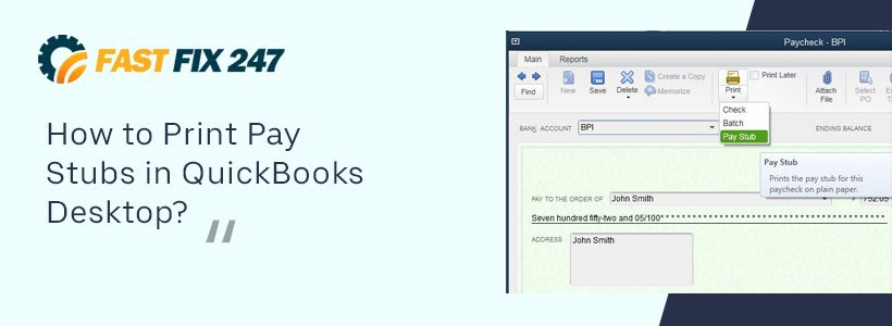 How to Print Pay Stubs in QuickBooks Desktop