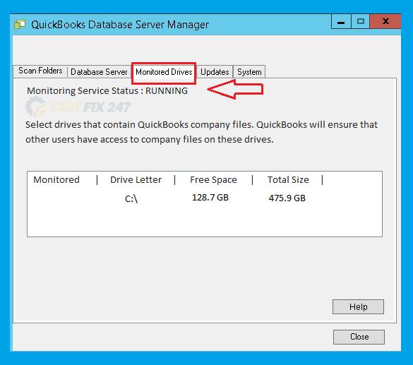 monitored drives qdsm