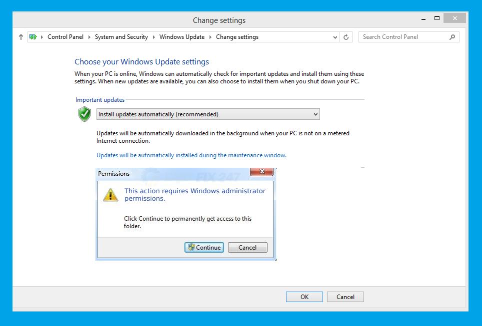 this action requires windows administrator permissions error