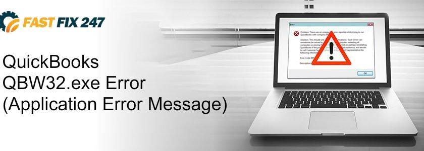 QuickBooks QBW32.exe Error (Application Error Message)