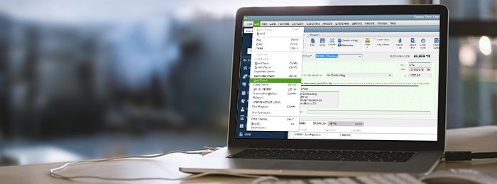 void a check in quickbooks
