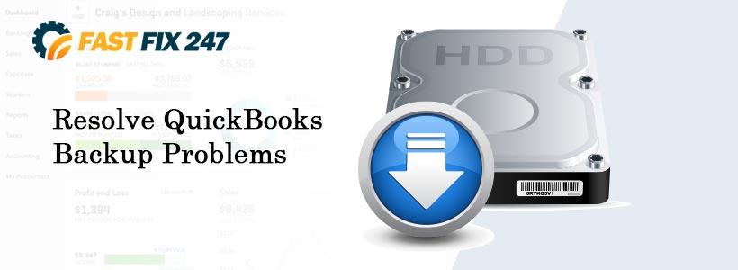 Resolve QuickBooks Backup Problems