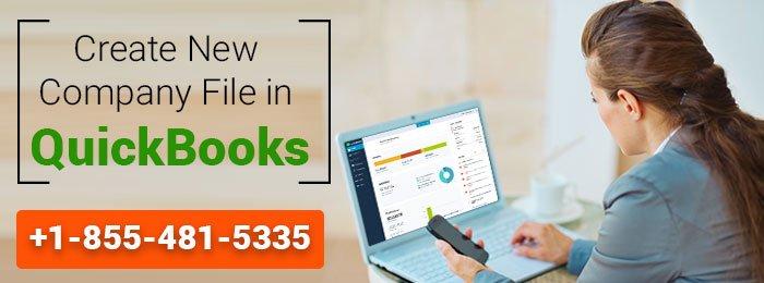 Create New Company File in QuickBooks