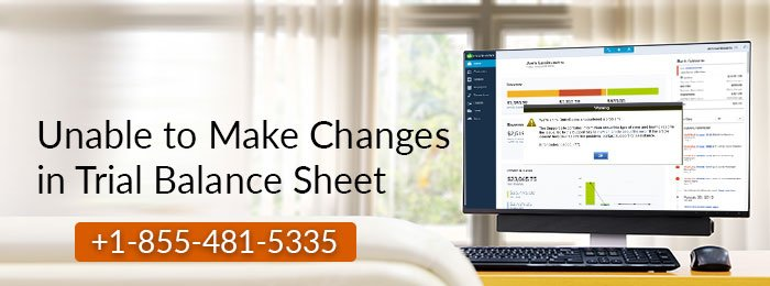 Unable to Make Changes in Trial Balance Sheet