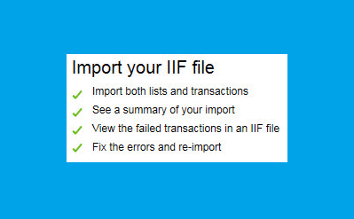 impor iif files in quickbooks