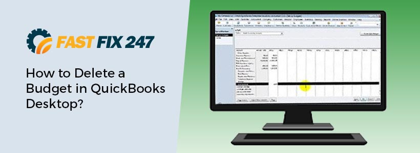 Delete-a Budget in QuickBooks Desktop