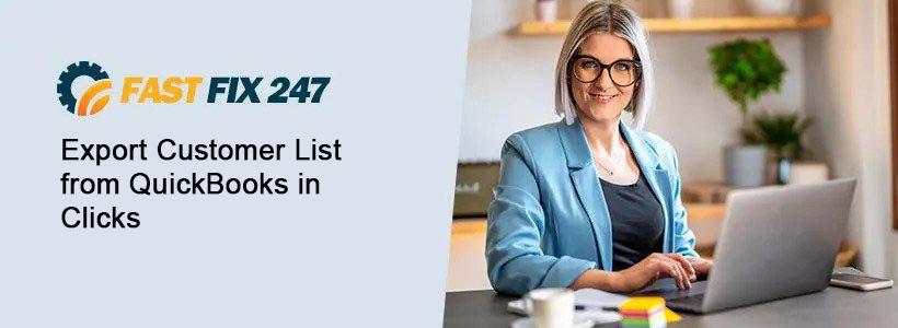 Export Customer List from QuickBooks Desktop
