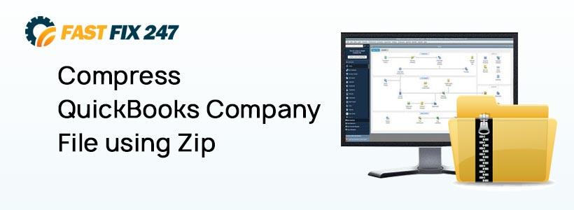 Compress QuickBooks Company File using Zip