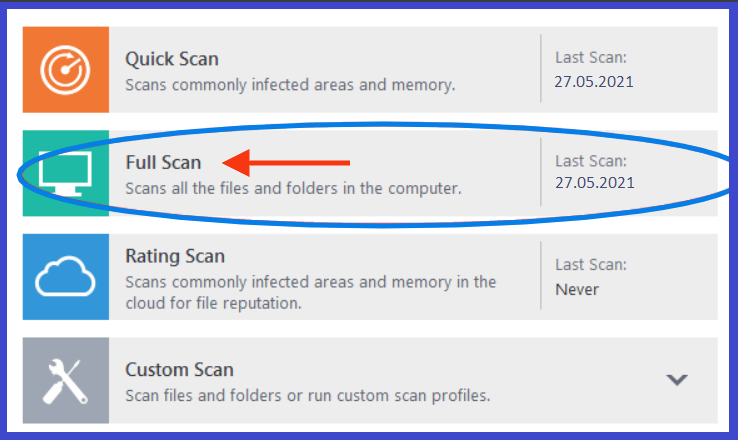 full scan your computer
