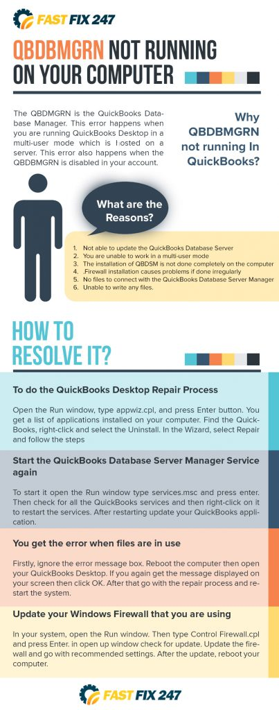 infographic qbdbmgrn not running on this computer