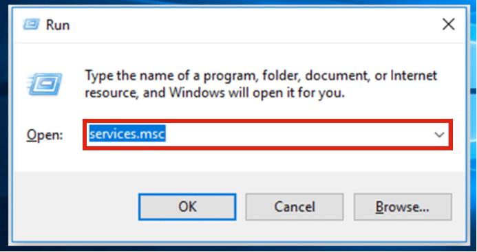 windows services.msc