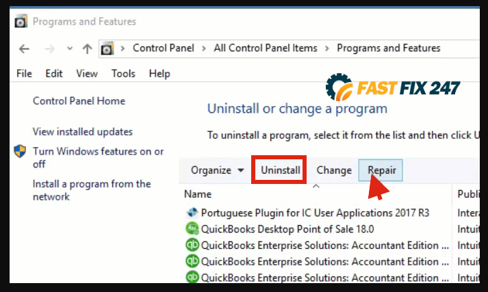 quickbooks desktop repair