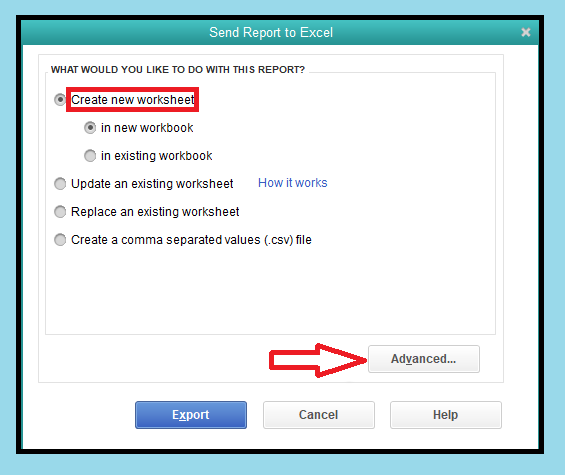send report to excel