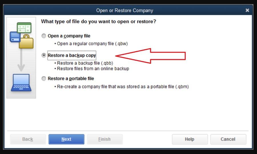 open or restore company