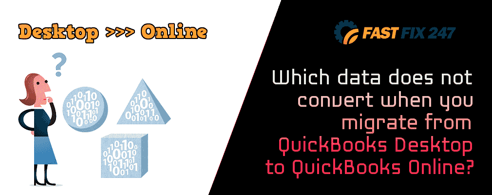 Which data does not convert when you migrate from QuickBooks Desktop to QuickBooks Online